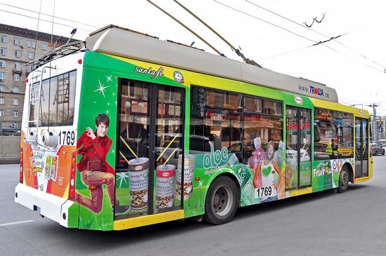 реклама на транспорте в регионах наш